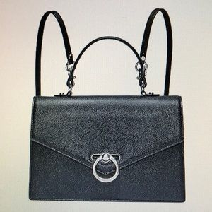 REBECCA MINKOFF JEAN CONVERTIBLE LEATHER HANDBAG